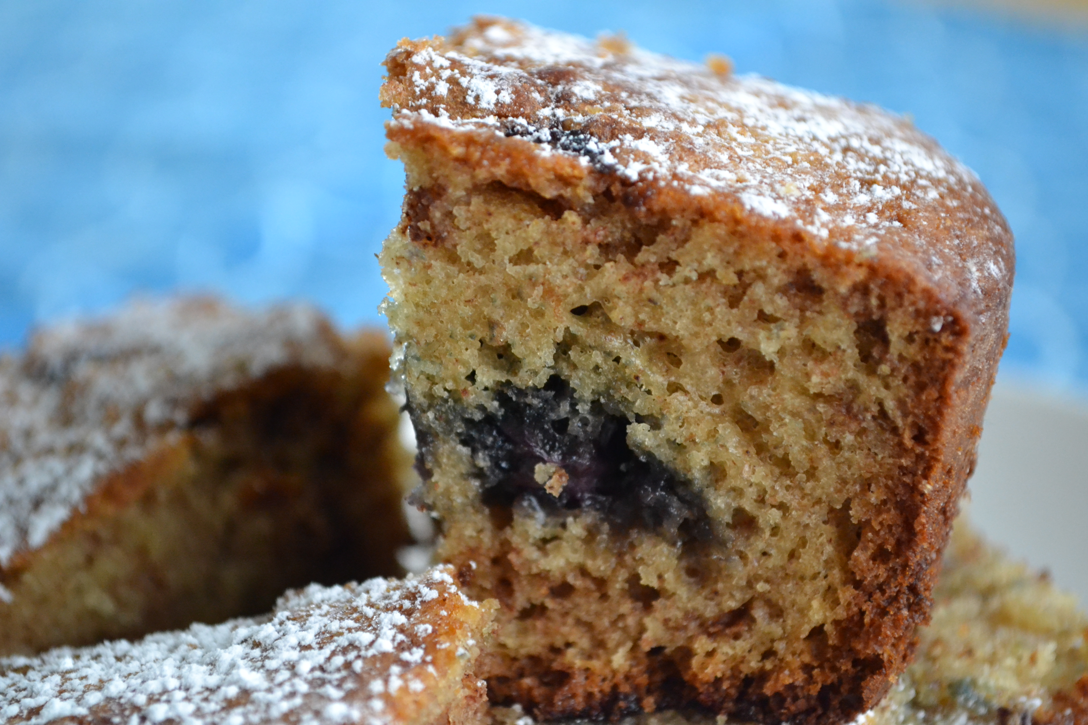 Cinnamon Blueberry Tea Cake -